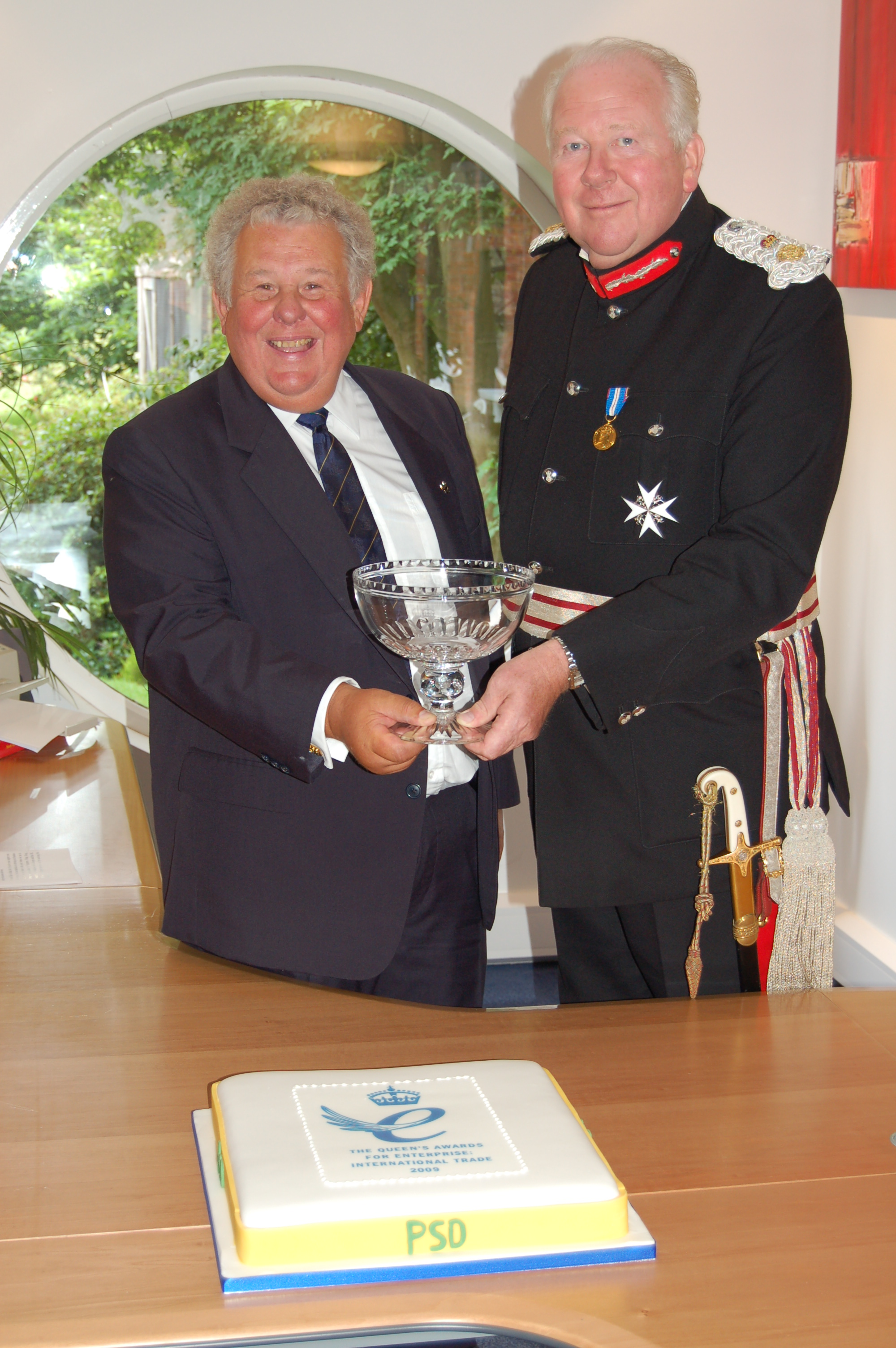 Lord Shuttleworth presents The Award to Colin Pigott
